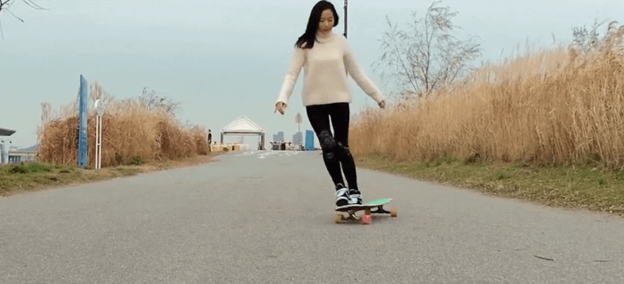 Running start of a Longboard